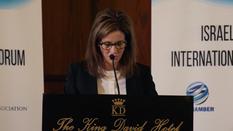 Heather Johnston at Israeli-Palestinian International Economic Forum
