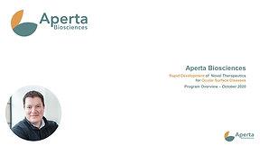 Aperta Biosciences: Rapid Development of Novel Therapeutics for Ocular Surface Diseases