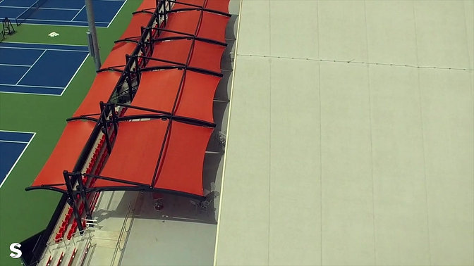 Tennis Center Shade  Structure | Pacific Tide Construction