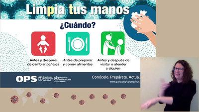 Lavate las manos