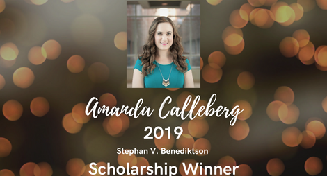Amanda Calleberg 2019-Benediktson Scholarship
