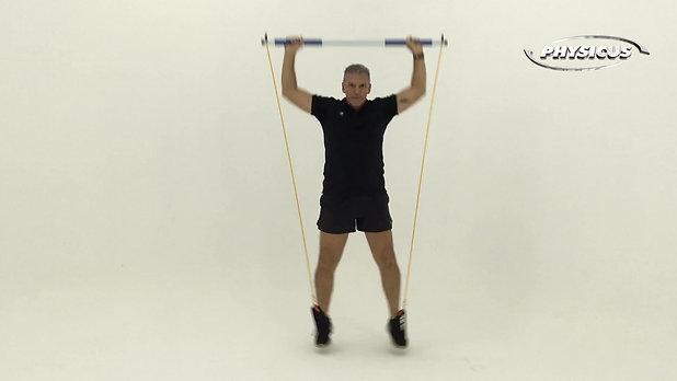 Exercicios de força na barra c/ elastico