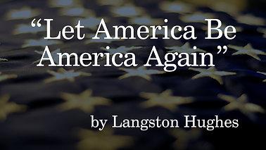 Let America Be America Again