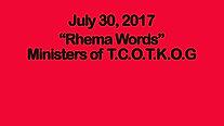 5th Sunday Rhema Words