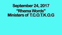 A Rhema Word