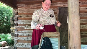 Monday's Work:  Laundry Day in the mid to late 1800s