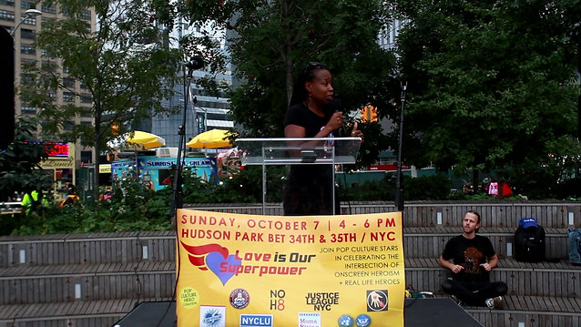 Monifa Bandele - Love is Our Superpower Rally
