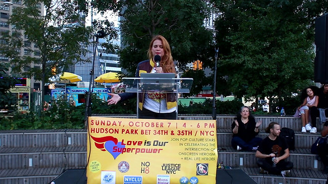 Chase Masterson - Love is Our Superpower Rally