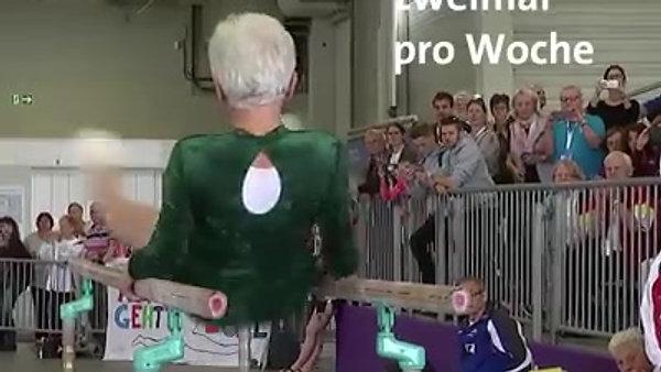 91歲芬蘭老人做雙槓