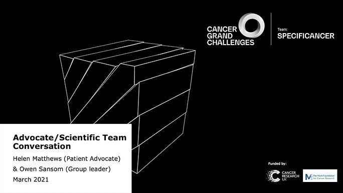 Advocate/Scientific Team Conversation March 2021