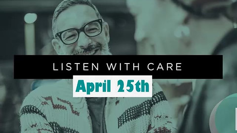 """4.25 Worship """"Listen With Care"""""""