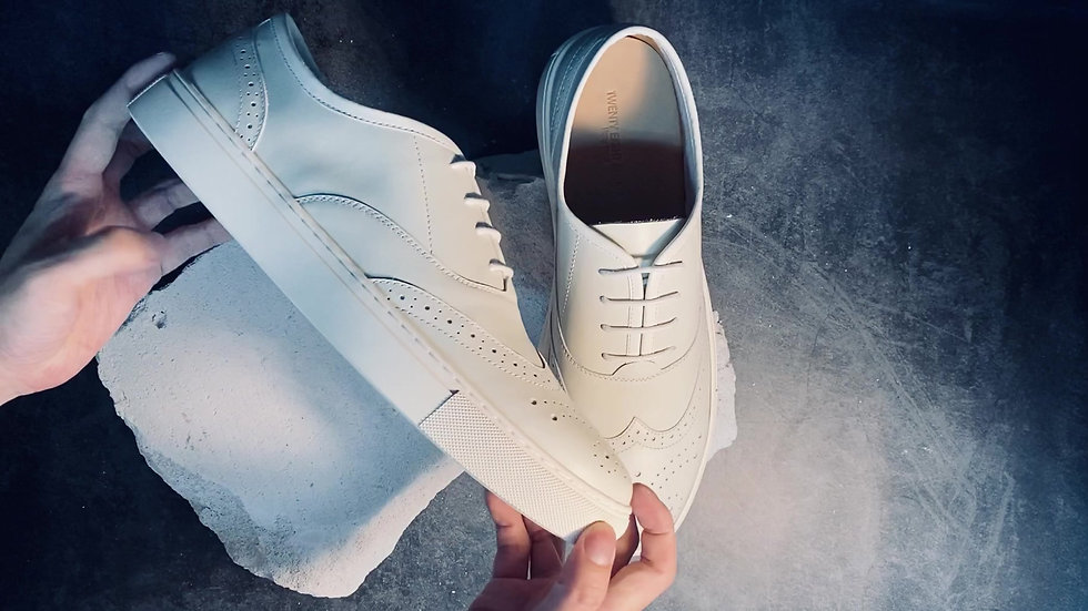 Wingtip Full Leather Sneakers
