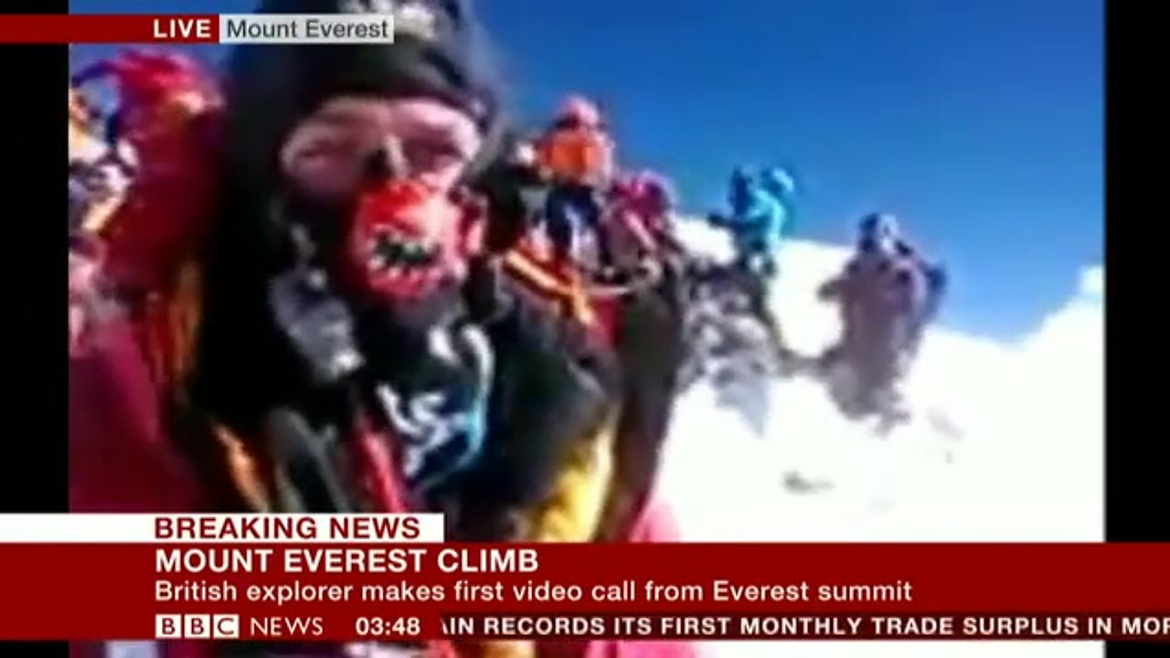 World's Highest Video Broadcast to the BBC Newschannel
