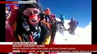 Worlds' Highest Video Broadcast to the BBC Newschannel