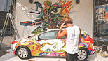 2012 Ford Focus Becomes Mobile Masterpiece in Buffalo, NY