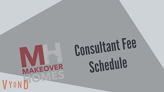 Makeover Consulting Fee Schedule
