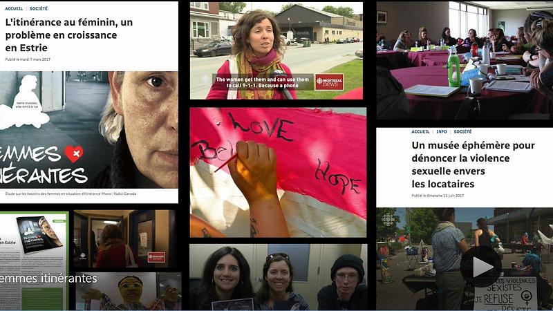 Femmes itinérantes à l'abri de la violence (2015-2018)