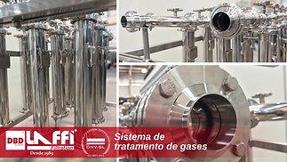 Sistema de Filtração para Tratamento de Gases