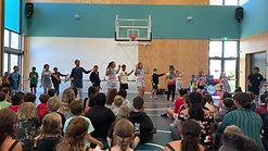 Dance group performance