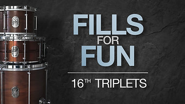 Fills for Fun | 16th Note Triplets
