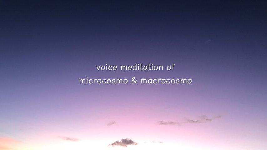 小宇宙ミクロコスモスと大宇宙マクロコスモスのボイスメディテーション