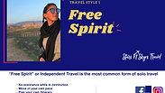 Solo Travel Stye 1- Free Spirit