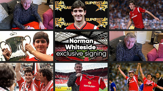 Norman Whiteside Signing
