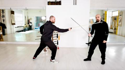 Rotating Sword 4 Partner Exercise