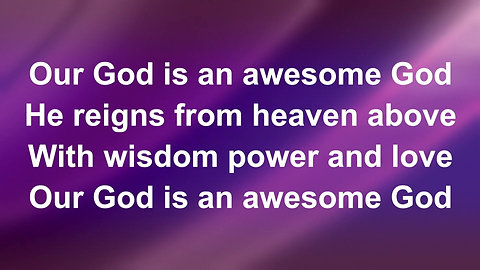 Awesome God (Preview)