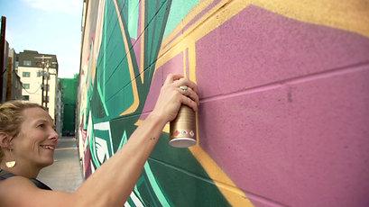 Gretchen Leggitt - Longs Peak Mural, Denver