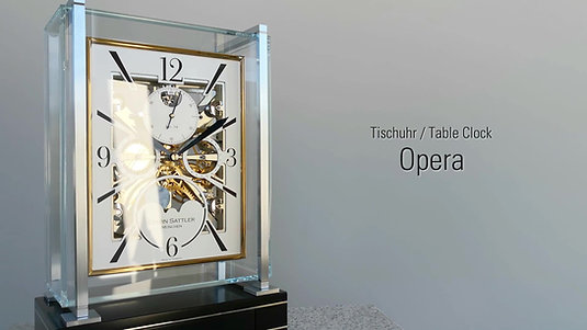 Erwin Sattler Opera Tischuhr  Table Clock