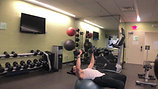 Stability Ball with Weights Workout