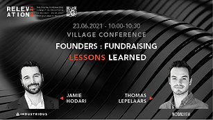 Founders : Fundraising lessons learned