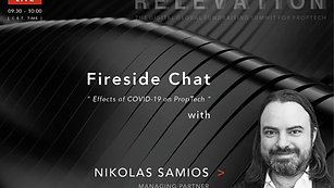 Effects of Covid-19 on PropTech - Fireside Chat with Nikolas Samios (PropTech 1)