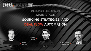 Sourcing strategies, and deal flow automation