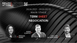 Term Sheet negotiation