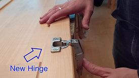 Blind Corner Hinge Repair
