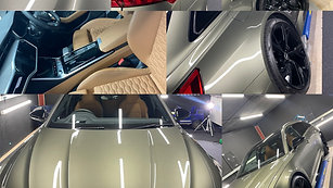 2021 Audi RS6 Paint protection film front end and new car detail with GYEON Coatings