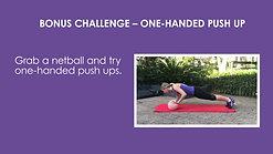 Netball push up challenge