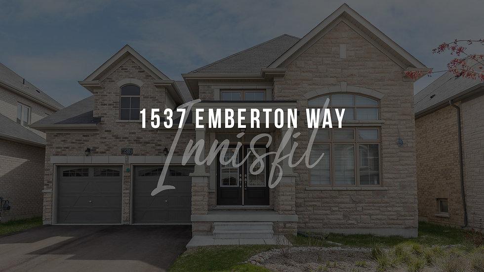 1537 Emberton Way, Innisfil video