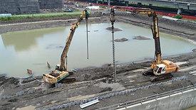 高雄大發工業區10米塑鋼板樁施工實例