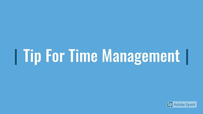 Be Successful in College with this Time Management Tip