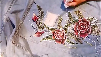 Denim Jacket Painting