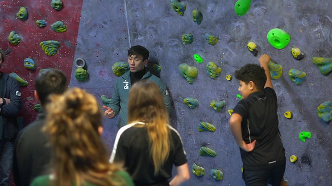 A session at TCA The Climbing Academy Bristol