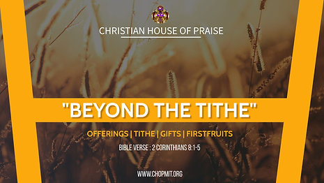 Beyond the Tithe
