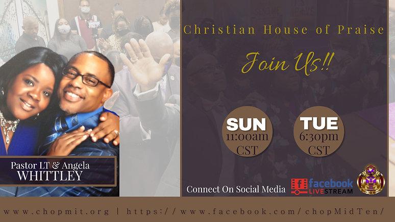 Sunday Worship and Tuesday Night Teaching (TNT) Bible Study