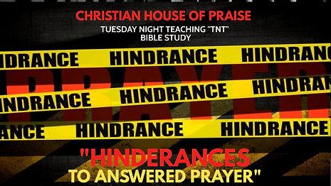 Hinderances to Answered Prayer