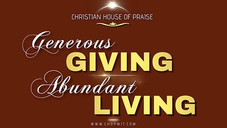 Generous Giving, Abundant Living