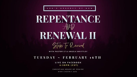 Repentance and Renewal II:  Steps to Revival