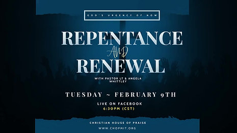 Repentance and Renewal